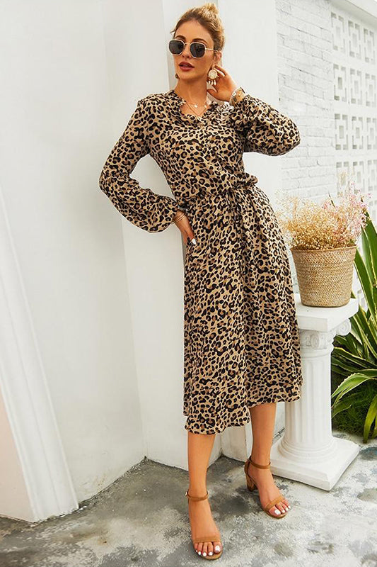 Robe Chemise Leopard