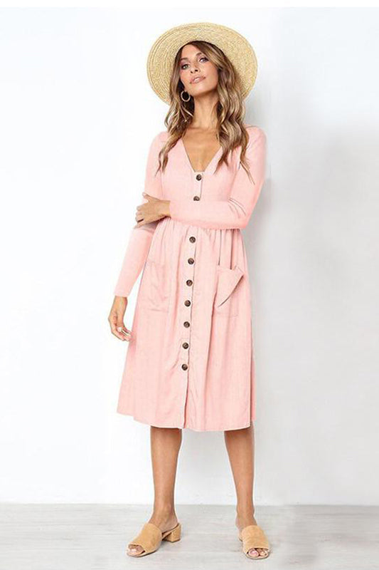 Robe Chemise Longue Manches Longues