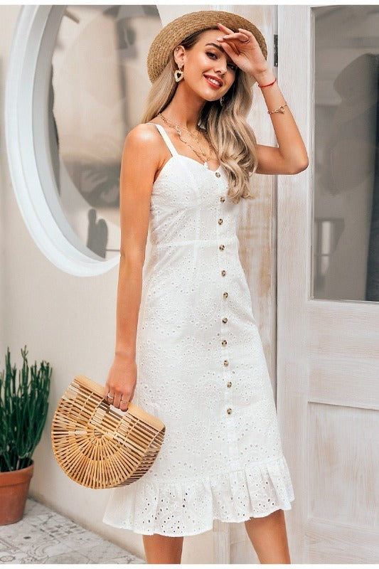Robe Chemise Blanche Longue