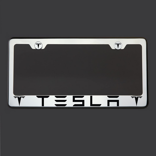 Laser Engraved Stainless Steel License Plate | Tesla Model S/3/X/Y - S3XY Models