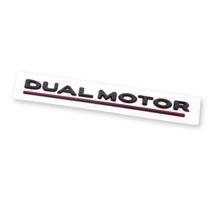 Dual Motor Decal Tesla