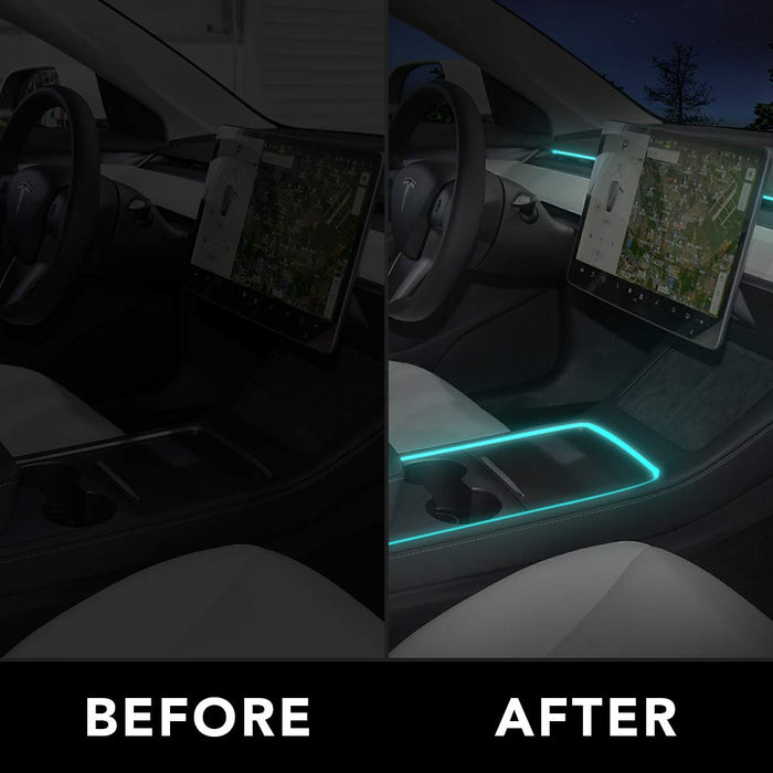 2021 Interior LED Dashboard + Center Console Light Strip