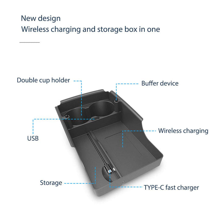 Wireless Car Charger | Model S & X 2016-2019 - S3XY Models