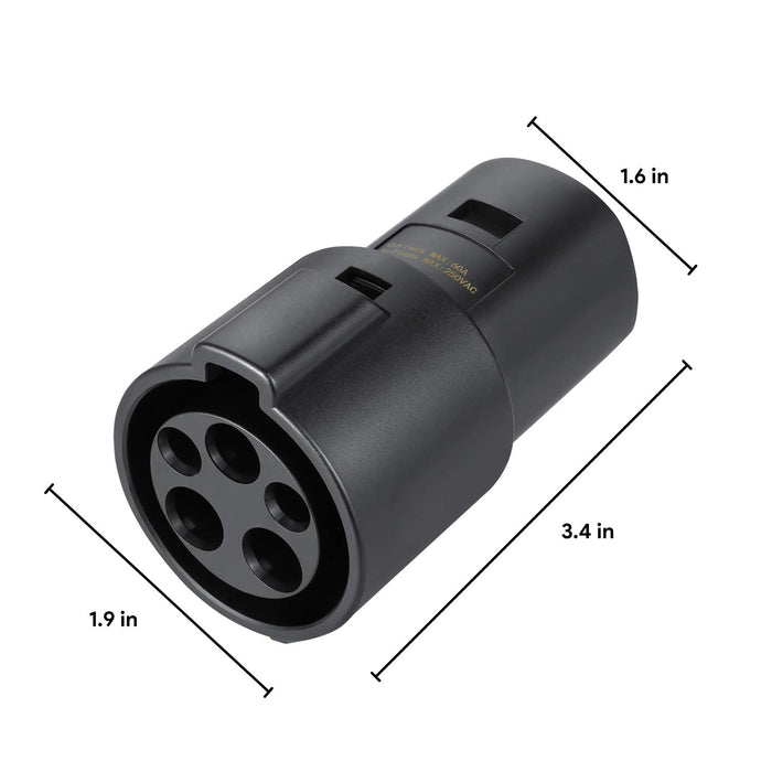 J1772 to Tesla Charging Adapter, 60A & 250V AC | Tesla Model S 3 X Y - S3XY Models