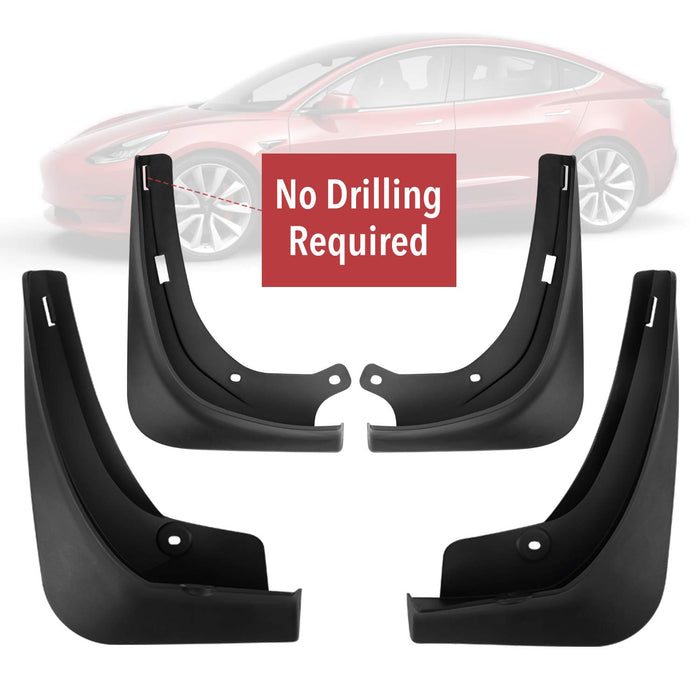 Mud Flaps (No-Drilling) | Tesla Model 3 - S3XY Models