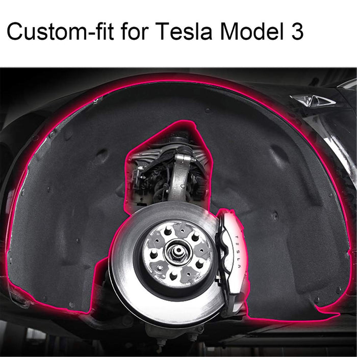 Wheel Soundproof Protective Pad | Tesla Model 3 - S3XY Models