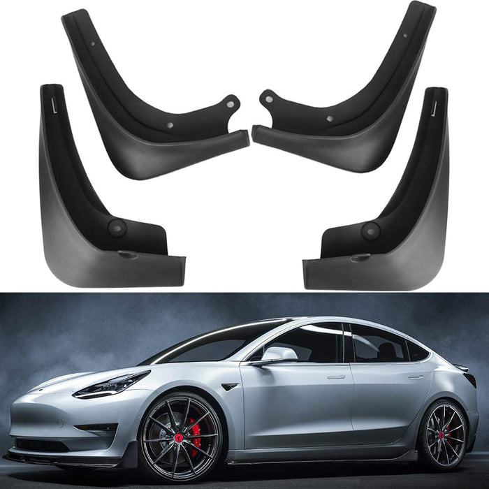Mud Flaps [Front & Rear] Splash Guards | Tesla Model 3/S (2016-2021)