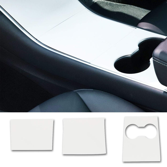 Frosted Pink Center Console Wrap | 2021 Tesla Model 3 & Model Y