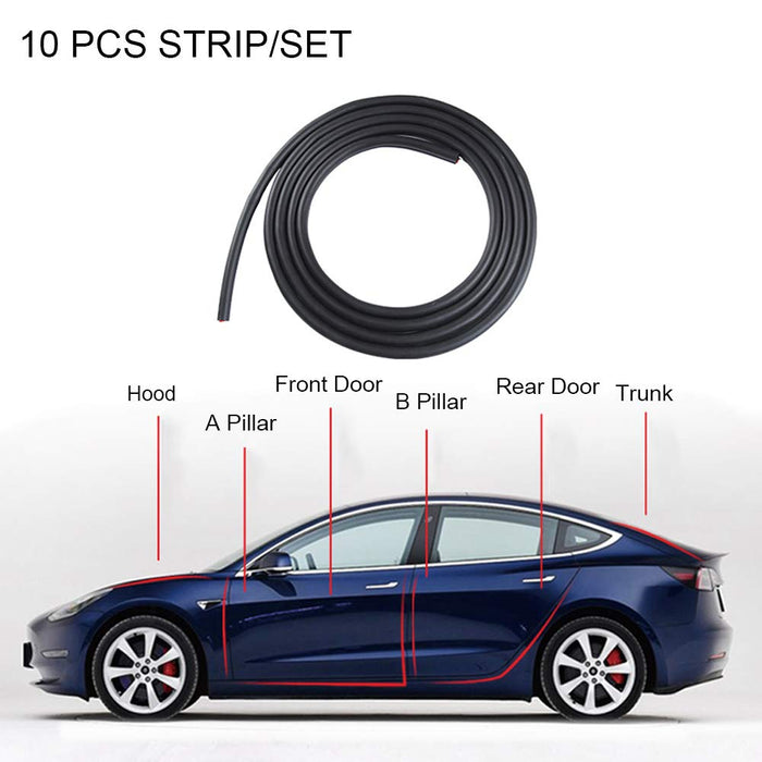 Tesla Model 3/Y Wind Noise Reduction Kit - S3XY Models