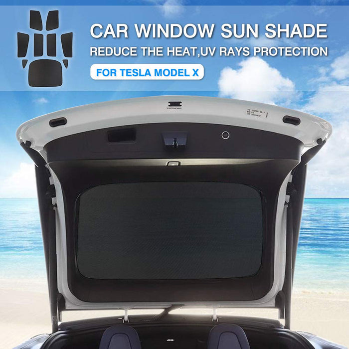 9pc Sunshade Set | Tesla Model X - S3XY Models