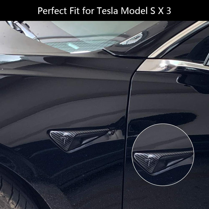 Turn Signal Indicator Cover (Carbon Fiber) | Tesla Model S/3/X/Y - S3XY Models