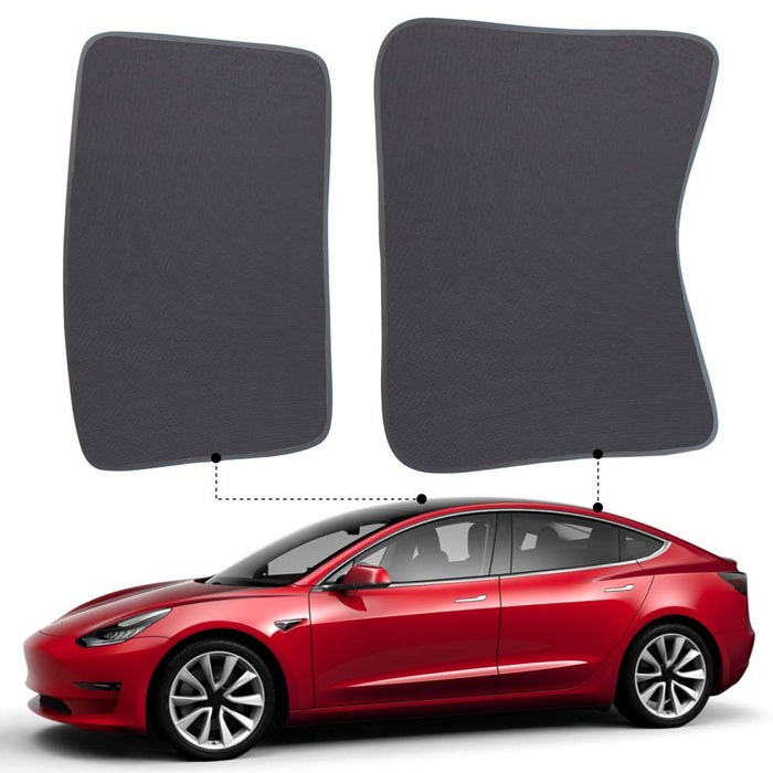 Sunshade Sunroof Covers | Tesla Model 3 - S3XY Models