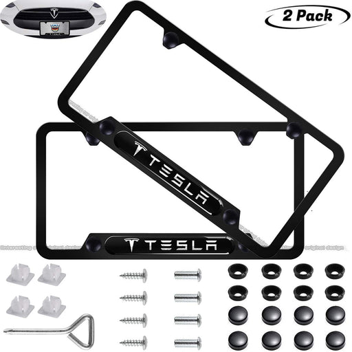 Tesla License Plate Frame (Black) - S3XY Models