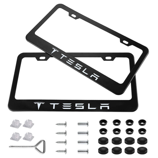 Tesla License Plate Set (Matte Black) - S3XY Models