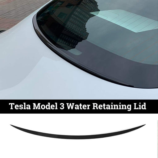 Rear Window Spoiler-Water Retaining Lip (Carbon Fiber) | Tesla Model 3 - S3XY Models