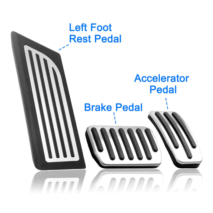Tesla Model 3 Anti-Slip Foot Pedal Pads, Pedal Covers, Accelerator & Brake & Foot Rest Foot Pedal Pads for Tesla Model 3