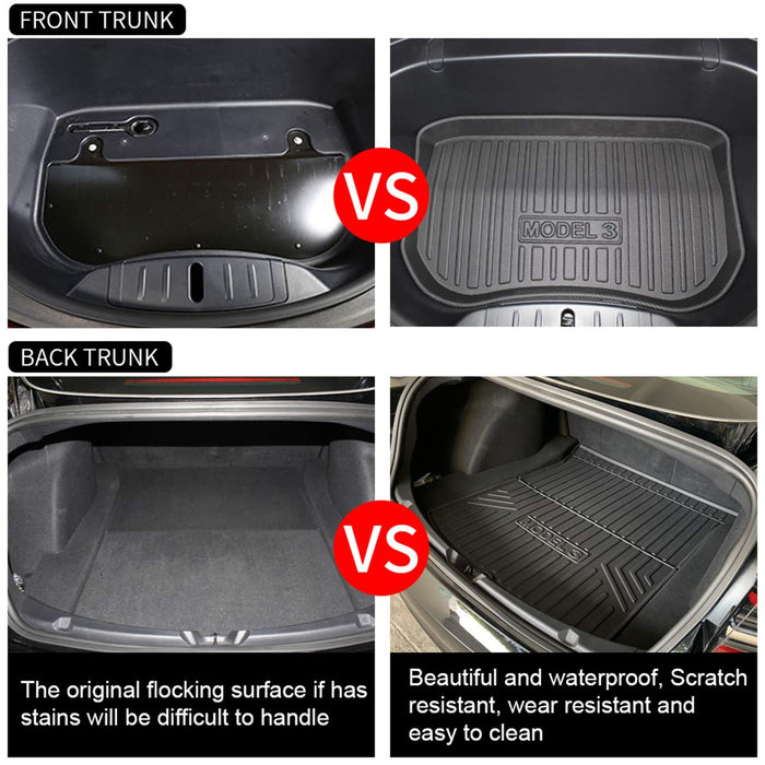 Trunk & Frunk Combo Mat | Tesla Model 3 - S3XY Models