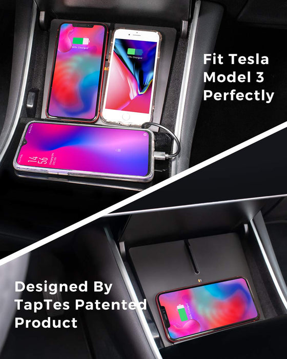 Wireless Phone Charging Pad | Tesla Model 3 - S3XY Models