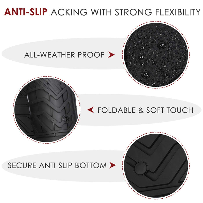 3D All-Weather Anti-Slip Waterproof Floor Mat Set | Tesla Model Y - S3XY Models