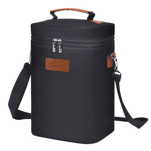Wine Carrying Cooler Tote Bag (Black) | CAMPER MODE - S3XY Models