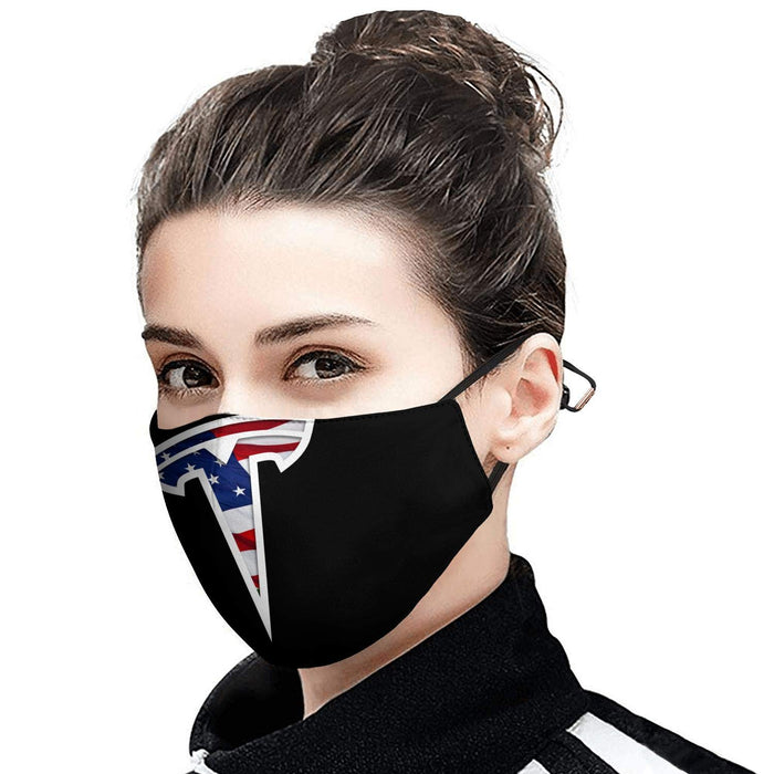 Tesla Face Mask (Model 3 Logo)