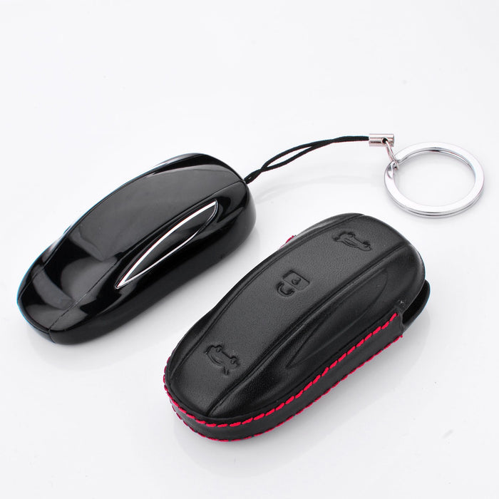 Genuine Leather Key Fob case Cover | Tesla Model S3XY
