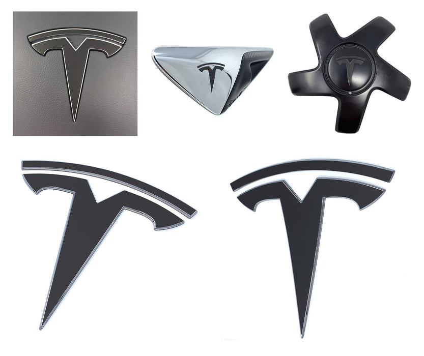 Custom Logo Decal Wrap (Matte Black) | Tesla Model 3 - S3XY Models