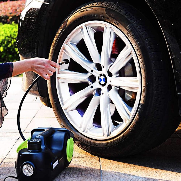 Electric Car Jack 5 Ton w/ Impact Wrench & Inflator for Tire Change - S3XY Models