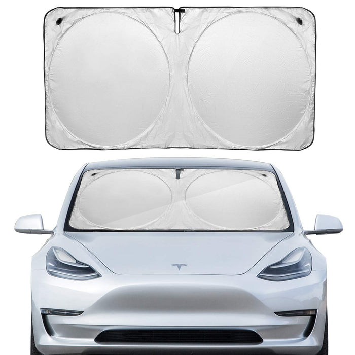 Windshield Sunshade Cover w/ Suction Cups | Tesla Model 3 - S3XY Models