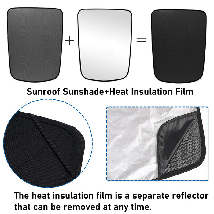 Roof Sun Shade + UV/Heat Insulation Film | Tesla Model Y (2020) - S3XY Models
