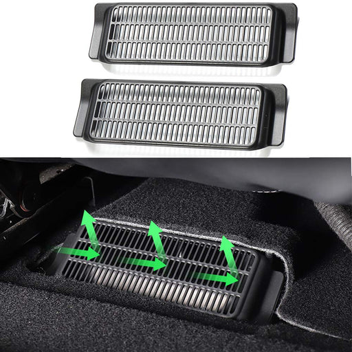 Backseat Air Vent Cover Air Flow Vent Grille Protection (2) | Tesla Model 3 - S3XY Models