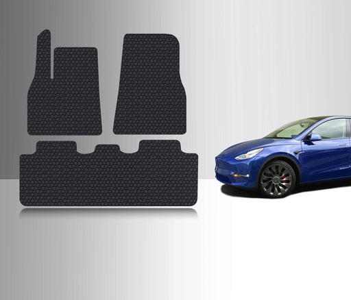 All-Weather Floor Mat Accessories Set (5 Seater) | 2020 Tesla Model Y (Performance) - S3XY Models