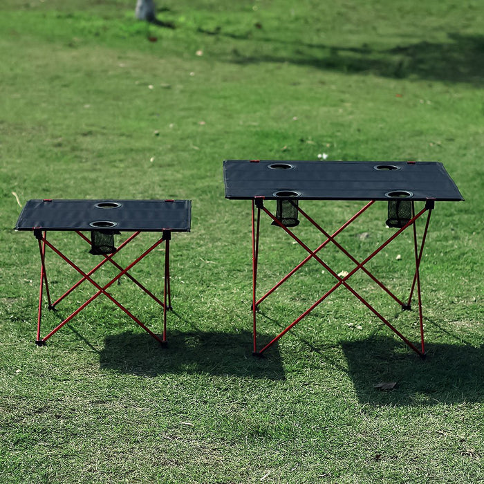 Portable Camp Folding Table with Cup Holders | Camper Mode - S3XY Models