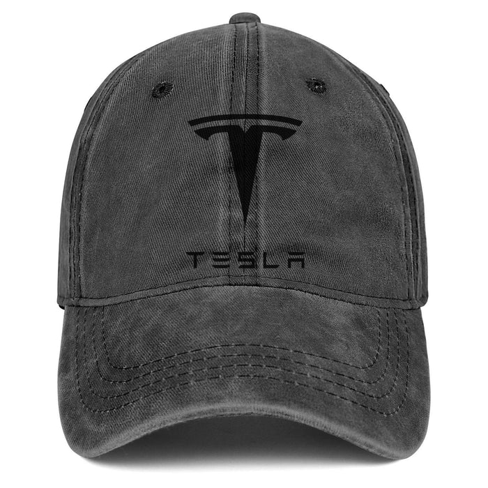 Denim Tesla Logo Hat