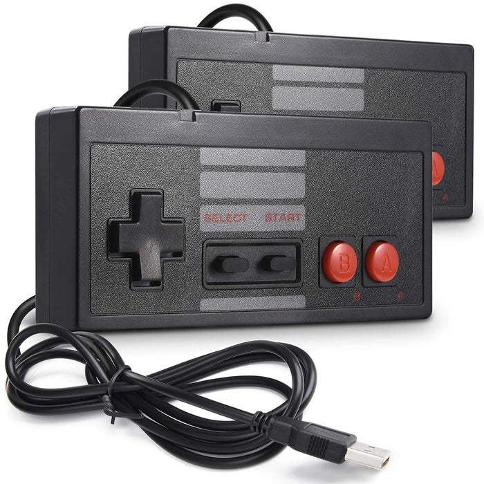 (2 Pk) Classic USB NES Gaming Controllers | CAMPER MODE - S3XY Models