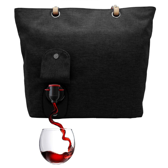 Wine Purse Holds 2 Bottles Hidden insulated Compartment | CAMPER MODE - S3XY Models