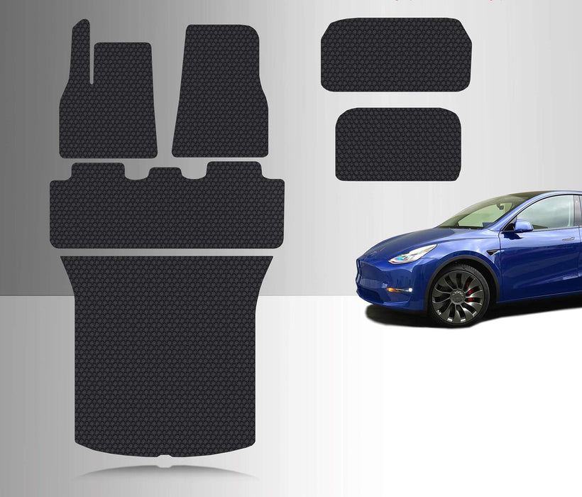Floor Mat Accessories + Frunk Mat + Storage + Cargo Mat | 2020 Tesla Model Y - S3XY Models