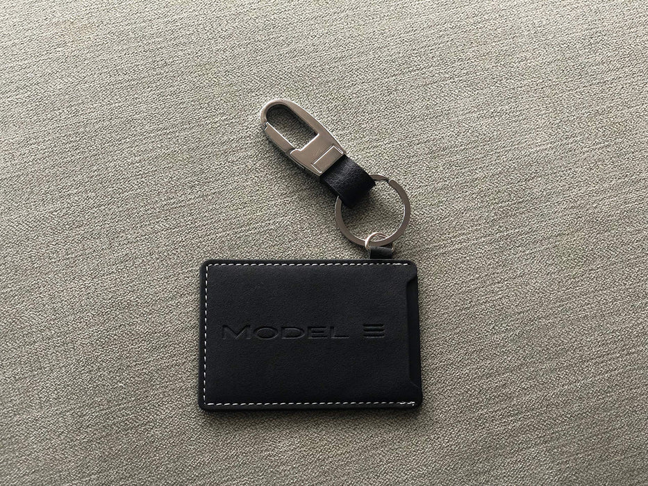 Premium Leather Tesla Model 3 Key Card Holder