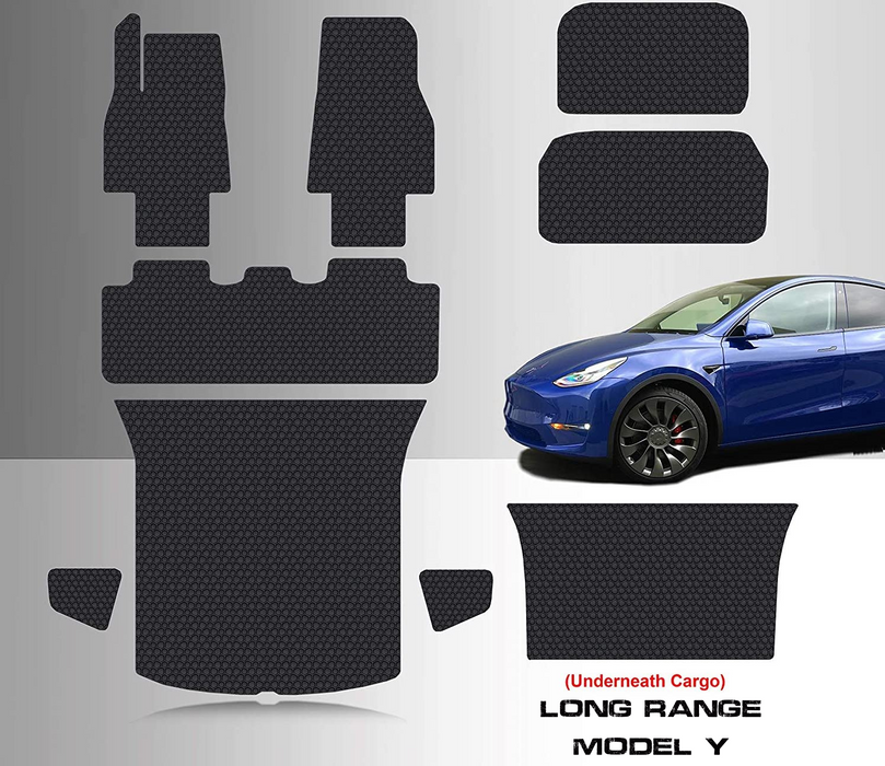 Floor Mat Accessories + Frunk Mat + Storage + Cargo Mat | 2020 Tesla Model Y
