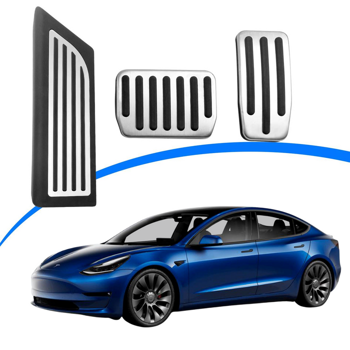 Tesla Model 3 Anti-Slip Foot Pedal Pads, Pedal Covers, Accelerator & Brake & Foot Rest Foot Pedal Pads for 2021 Tesla Model 3