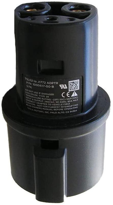 J1772 to Tesla Charging Adapter, 60A & 250V AC | Tesla Model S 3 X Y
