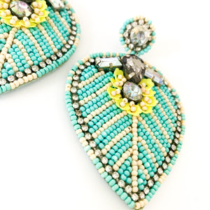 Shop the Turquoise Beaded & Glitz Earrings at Federal & Black