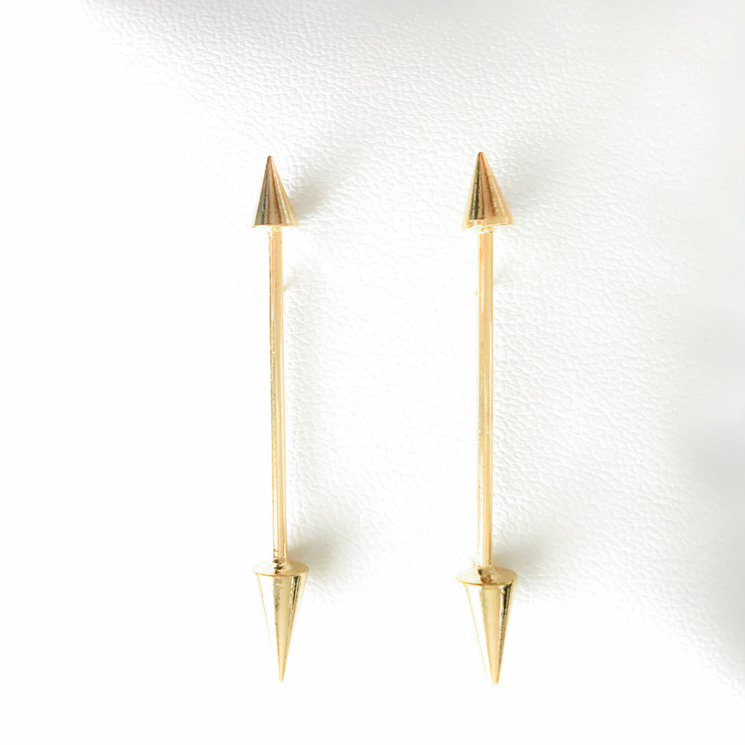 Shop our Gold Cupid Arrow Post Earrings and others at Federal & Black