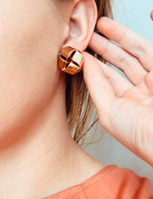 Load image into Gallery viewer, Shop our gold color Knot Post Stud Earrings at Federal & Black