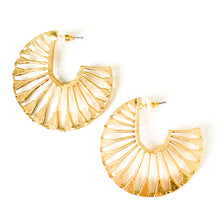 Load image into Gallery viewer, Shop the Domenika Gold Cut Out Hoop Earrings at Federal & Black