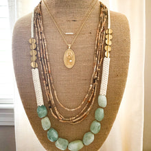 Load image into Gallery viewer, Shop the Amazonite, Magnesite & Brass Statement Necklace at Federal & Black