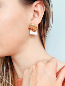 Shop the Edel Gold Foldover Post Earrings at Federal & Black