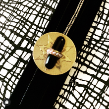Load image into Gallery viewer, Antique Victorian Pendant | 14K Gold w/ Onyx & Seed Pearls