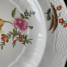 Load image into Gallery viewer, Shop these hand painted white porcelain Chelsea House plates with fruit botanical & butterflies & basket weave pattern at Federal & Black.