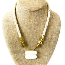 Load image into Gallery viewer, Shop the White Jade, Magnesite & Brass Necklace at Federal & Black